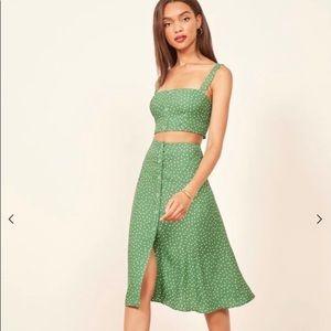 Reformation Grazia Two Piece Dress size 6